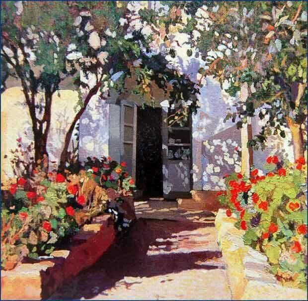 "Llewelyn Lloyd 1916British-italian 1879-1949  ""Marciana Marina (Giardino di casa Lloyd)"", 1916 ....."