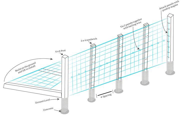 3 Ways To Build A Hog Wire Trellis Wire Trellis Hog