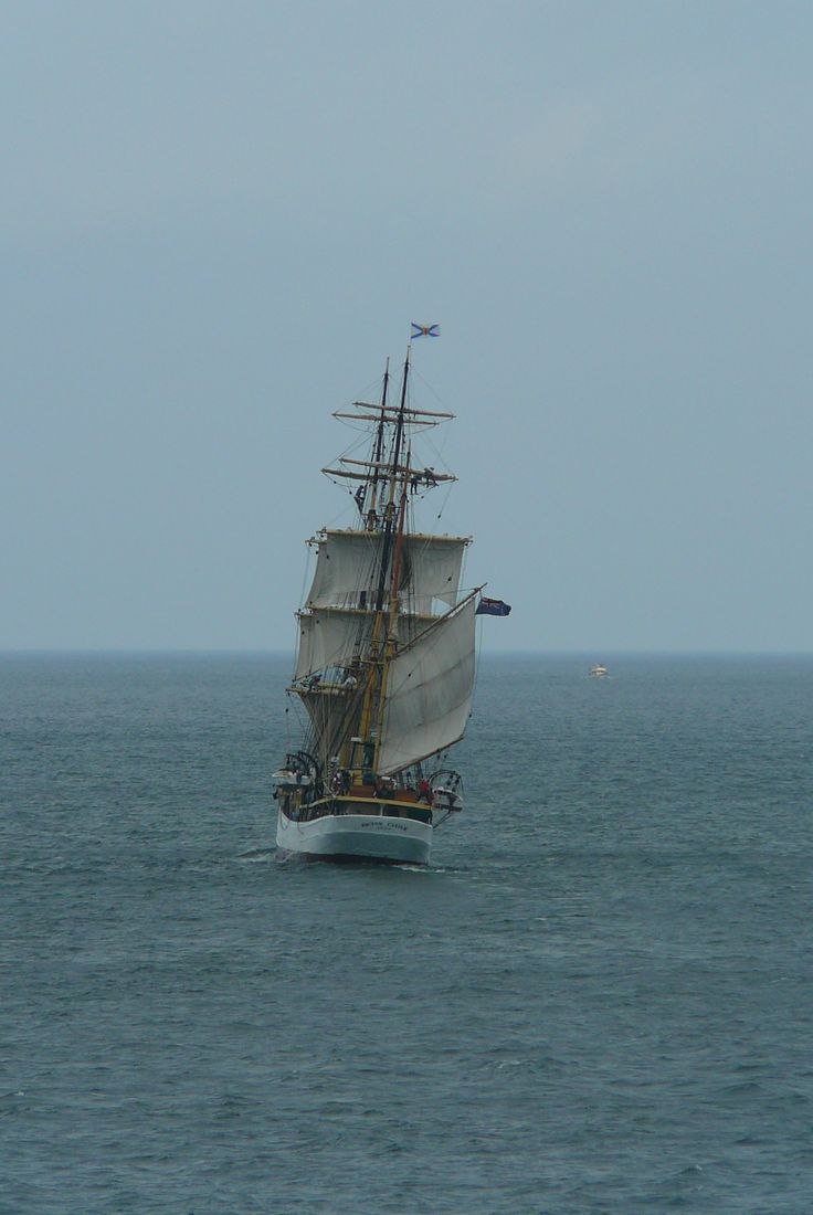 The Picton Castle...legendary tallship coming into Pictou County, Nova Scotia.  They passed the ferry I was on :-)