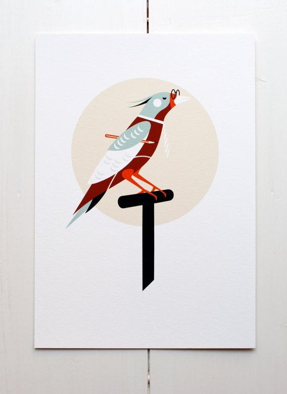 Birdy di MonsieurP su Etsy.