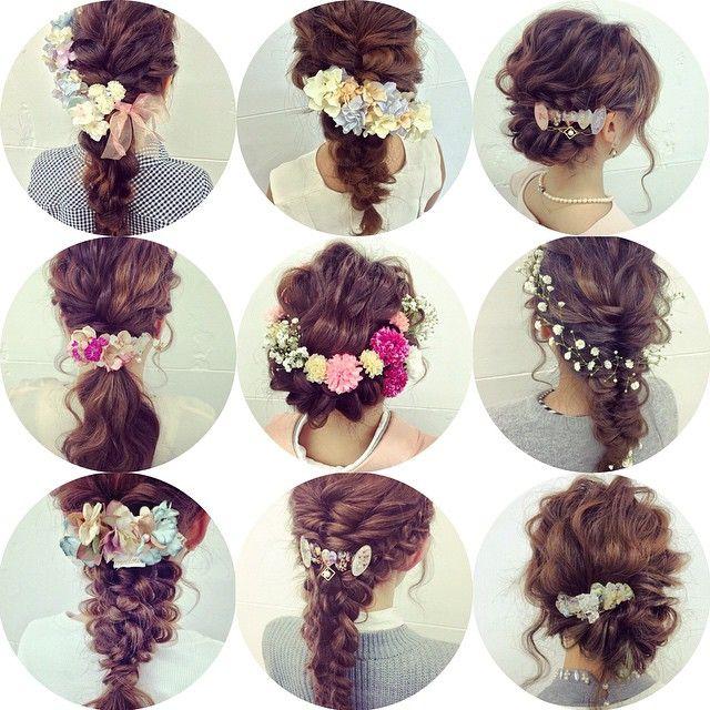 ヘッドドレス特集 mellowから生花、造花まで つけるだけで華やかになりますよ✨ #hair#hairstyle#love#style#instagood#instafashion#beauty#girl#美容師#美容院#ヘアアレンジ#ヘアセット#大阪#心斎橋#ウェディングドレス#ウェディング#ブライダル#bridal