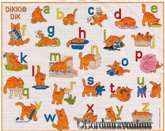 Dikkie Dik - ABC - Alfabet - borduurpatoon