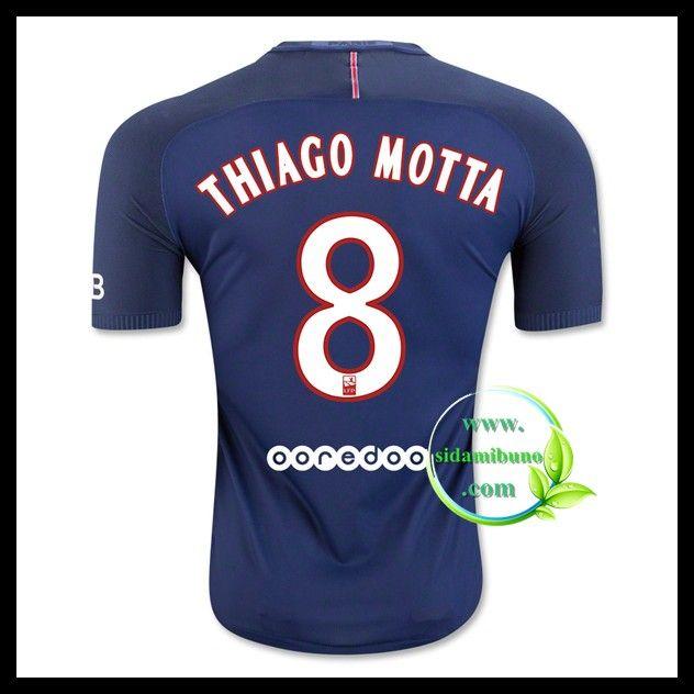 Fotballdrakter Paris Saint Germain PSG THIAGO MOTTA #8 Hjemmedraktsett 2016-2017