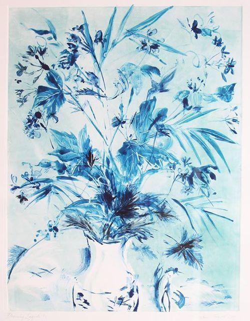 'Blooming Indigo' | Monoprint