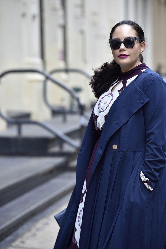 02db911df4ab0 Girl With Curves x Lane Bryant Medallion Print Dress + Pleated Trench   GWCxLB