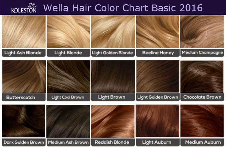 Wella Basic Hair Colour Chart Hair Images 2016 Loreal