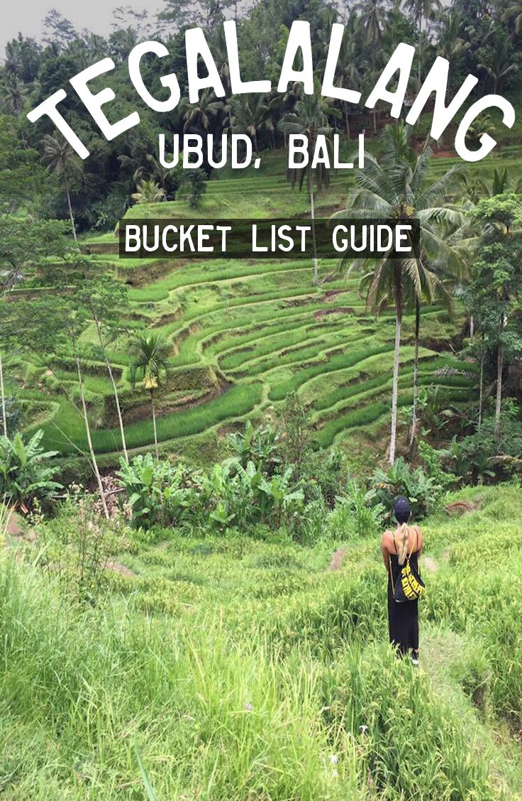 Tegalalang Rice Terrace are located in Ubud, Bali. About 2 hours from Denpasar