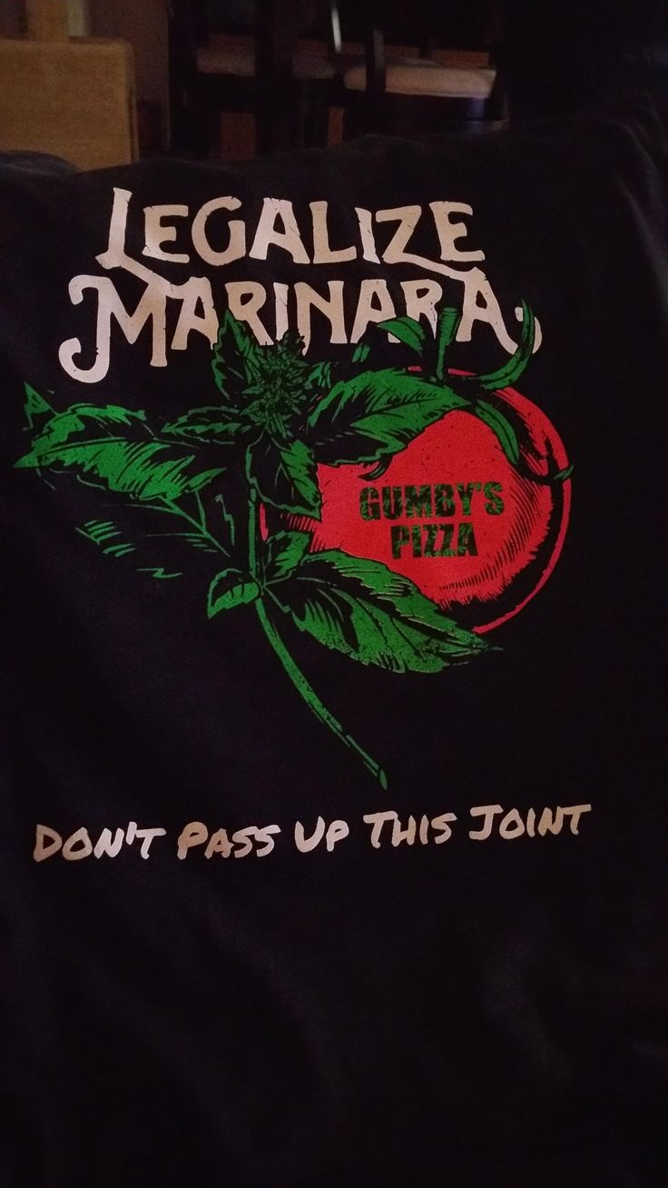 Gumby's Pizza wants to Legalize Marinara.