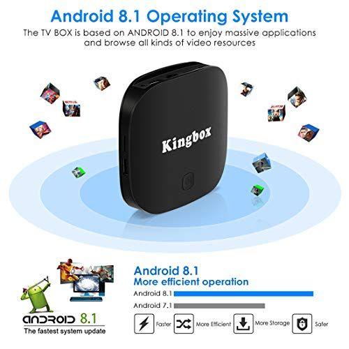 Kingbox Android 8 1 TV Box, K2 Pro ATV System Android Box 2GB RAM+