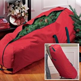 Christmas Tree Storage Bag has wheels... I Sooo need one as big and heavy as mine is!!