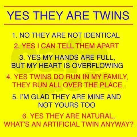 FAQ about twins. ❣Julianne McPeters❣ no pin limits