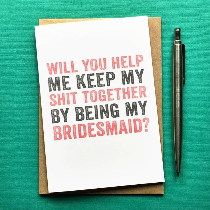 Will You Help Me Be My Bridesmaid Greetings Card                                                                                                                                                                                 More