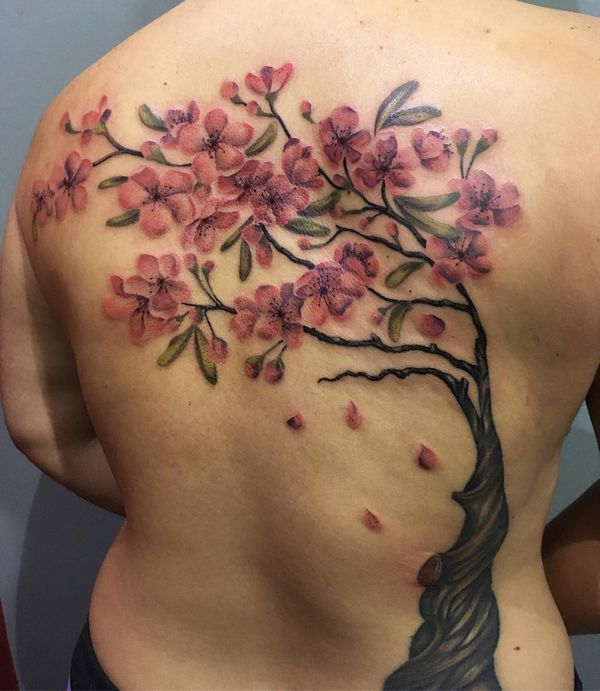Tree Tattoos Designs And Meanings Flowertattooideas Com Blossom Tattoo Tree Tattoo Designs Cherry Blossom Tattoo