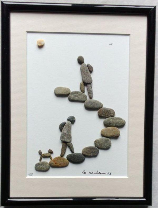 Big 40 Rock and Pebble Art Ideas