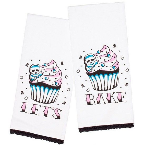 Amazing. Let's Bake Tea Towel Set by Sourpuss Clothing