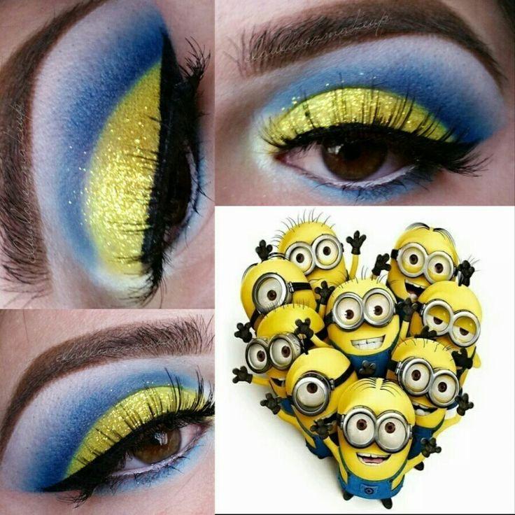 Minions inspired eye makeup #minions #makeup #summermakeup #minionsmakeup
