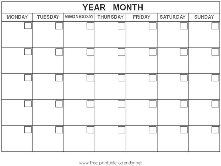 25+ ideias exclusivas de Blank calendar template 2016 no Pinterest - blank calendar templates