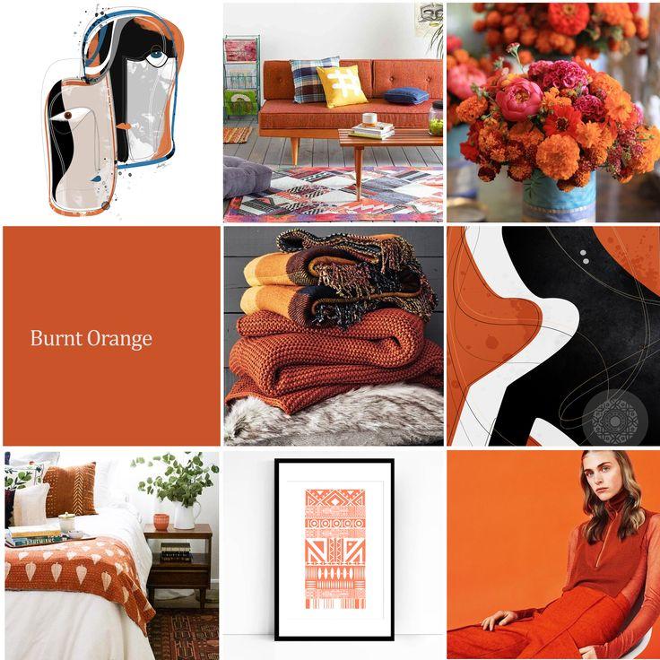 sape orange shweshwe moodboard - 736×736