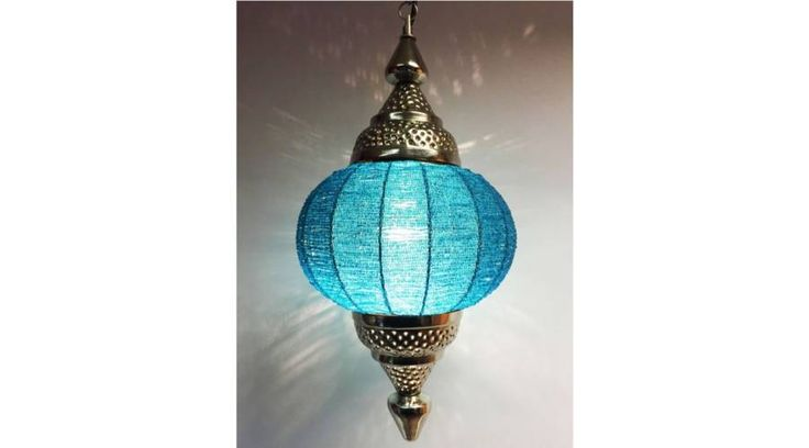 Shadia indiai mennyezeti lámpa türkiz