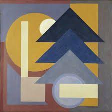 geometrisch schilderij het zijn de vormen op het platte vlak