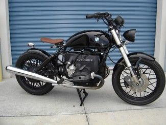 Made-to-order BMW R100 cruiser bobber hybrid motorcycle, Florida, visit Burgundee.com