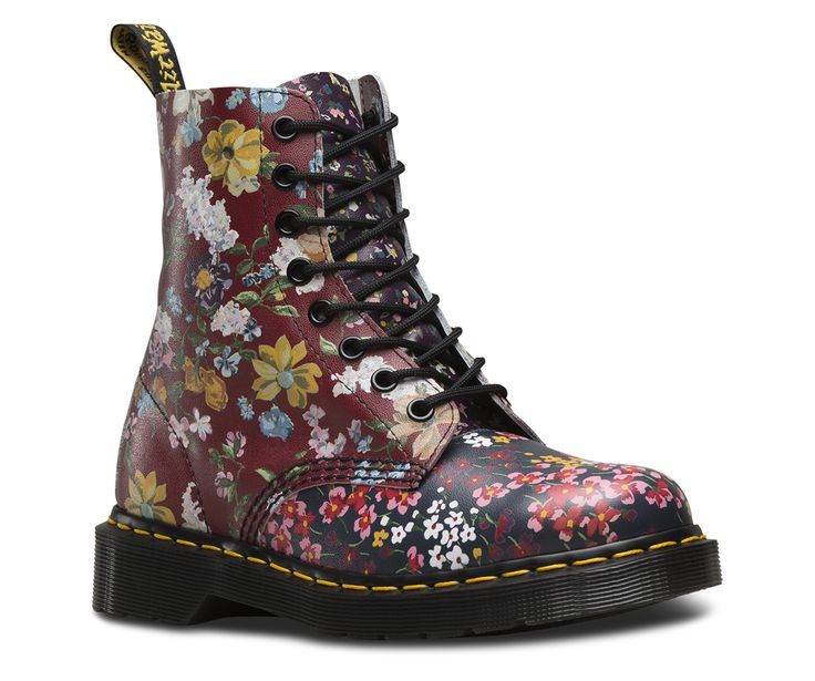 This version of the classic Pascal 8-eye boot is part of the Floral Clash Collection: three prints brought together in a riotous mashup of mismatched genius.