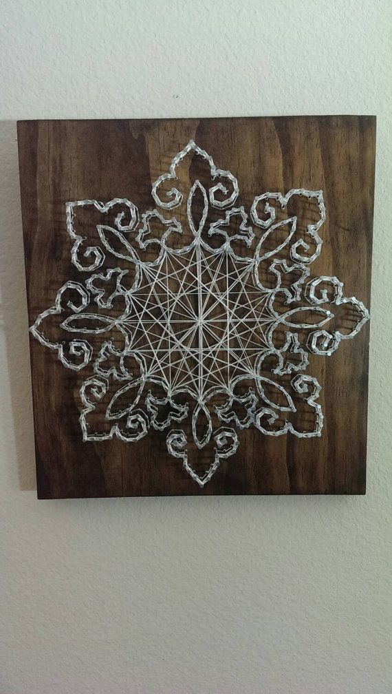 Lace Nail and String Art