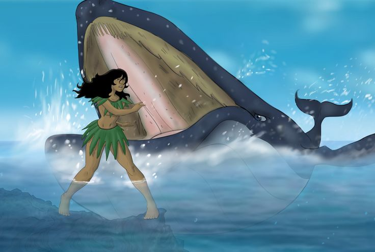 Mataginiifale is Niue's version of Jonah, a super-heroine swallowed by a whale!http://readingwarrior.com/we-are-the-rock/