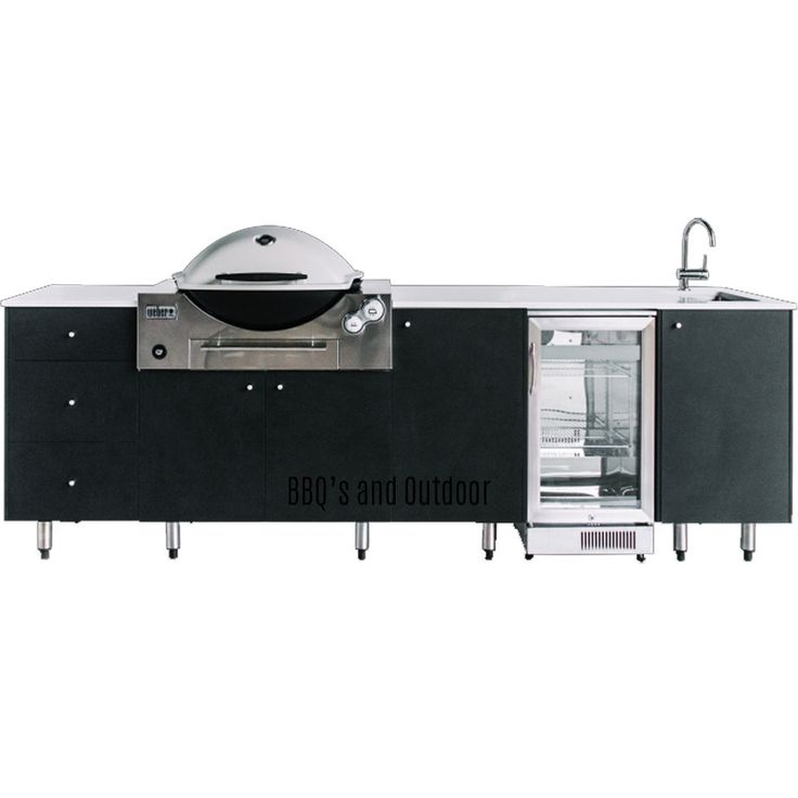 SustainaPod Elston Outdoor Kitchen Cabinet Range Is Designed Specifically  For The Weber Q Built In BBQ