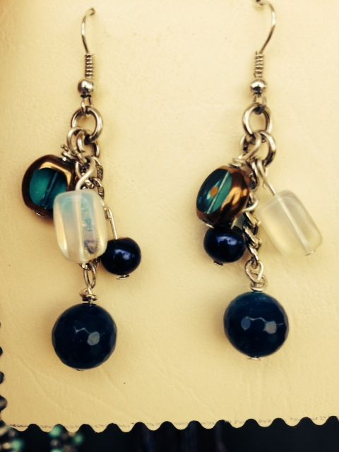 Opalite and agate drops...