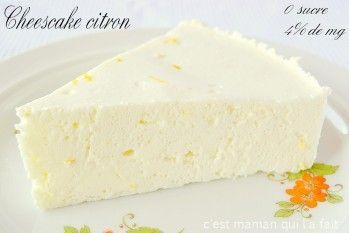 CHEESECAKE CITRON ULTRA LIGHT RECETTE DIETETIQUE DIABETIQUE REGIME - C'est maman qui l'a fait - Gâteaux 3D en pâte à sucre - Cake pops