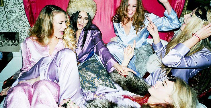 Olivia von Halle is a British luxury nightwear brand that launched at London Fashion Week in September 2011.