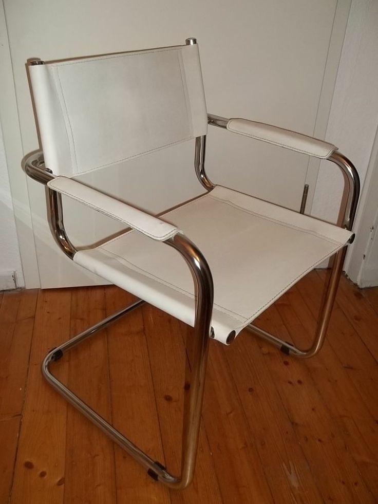 freischwinger st hle leder edelstahl geb rstet goetics. Black Bedroom Furniture Sets. Home Design Ideas