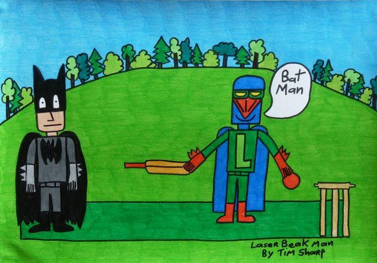 REPRODUCTION PRINT - LASER BEAK MAN - BATMAN - SMALL - Laser Beak Man