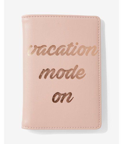 Vacation Mode On Passport Holder Women's Neutral