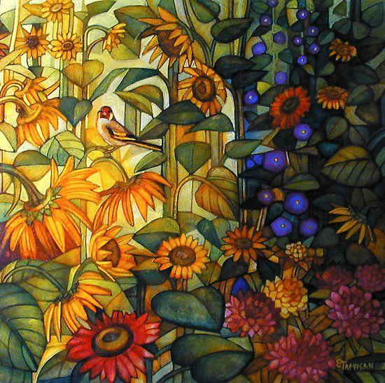 Goldfinche  -   Elisabetta Trevisan: Art Composition, Art Watercolor, De Art, Elisabetta Trevisan, Artworks Paintings, Fabulous Artists, Artists Goldfinch, Art Miscellan, Colors Inspiration