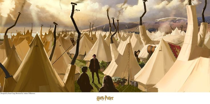 Harry Potter - Tent City - Stuart Craig - World-Wide-Art.com - #harrypotter #jkrowling #stuartcraig