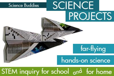 Weekly Science Project Idea/Home Science Activity Spotlight: a pair of paper airplane #science projects that turn ordinary paper airplane folding and flying into a fun hands-on #STEM activity. [Source: Science Buddies, http://www.sciencebuddies.org/blog/2013/02/weekly-science-project-ideahome-science-activity-spotlight-paper-airplanes.php?from=Pinterest]