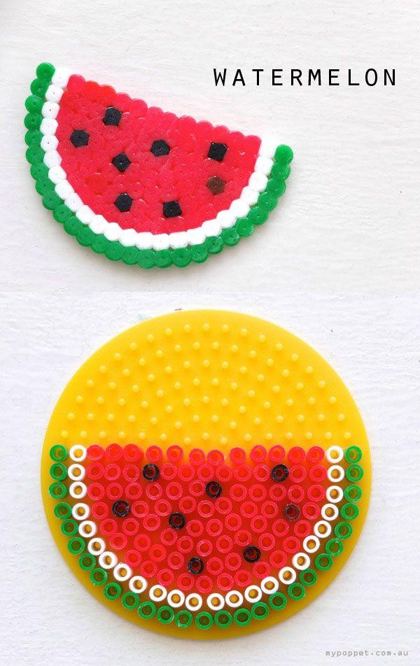 watermelon hama bead pattern
