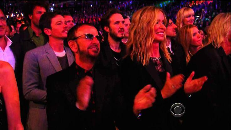 "Daft Punk, Pharrell Williams & Stevie Wonder performing ""Get Lucky"" at T..."