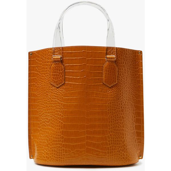 TRADEMARK Mini Aubock Shopper in Camel ($848) ❤ liked on Polyvore featuring bags, handbags, tote bags, camel tote, brown tote purse, handbags totes, mini tote bags and brown tote handbags