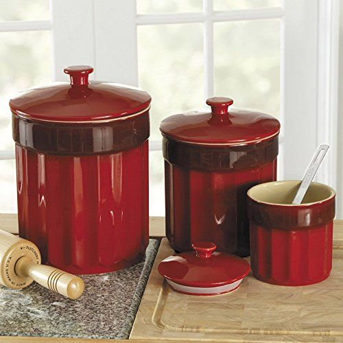 1000 Images About Red Kitchen Storage Jars Red Kitchen