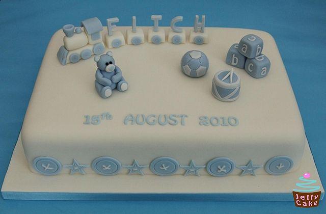 Train Name Christening Cake by www.jellycake.co.uk, via Flickr