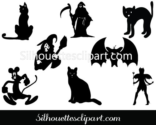 halloween silhouette clip art packs silhouette clip art - Halloween Graphics Clip Art
