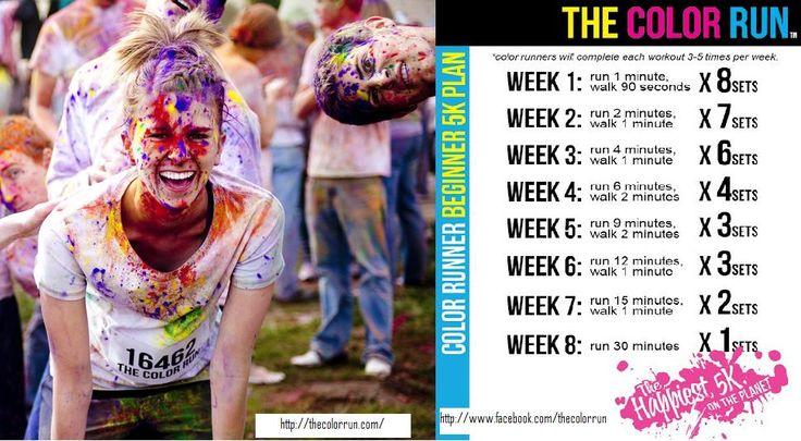 Color Run beginner 5k training.