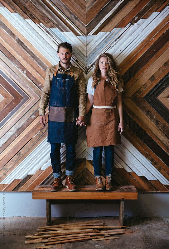 Portrait of artist wood workers in their studio by Trinette Reed for Stocksy United