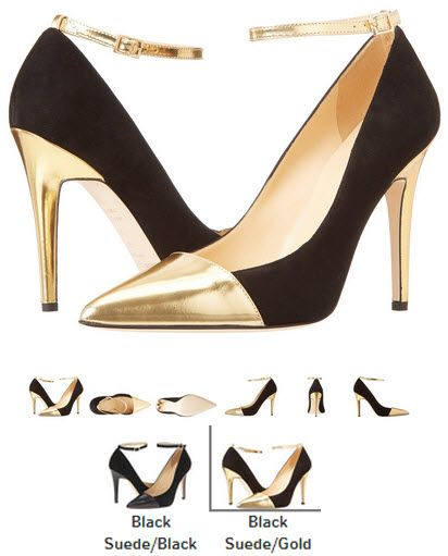 Pantofi stiletto auriu cu negru Kate Spade New York Liza. Detalii Detalii aici http://thankyou.ws/pantofi-stiletto-din-piele-naturala-alege-calitatea #pantofisenzationali  #pantoficutocstiletto #pantofidinpielenaturala #pantofistilettopielenaturala #KateSpadeNewYork #Liza