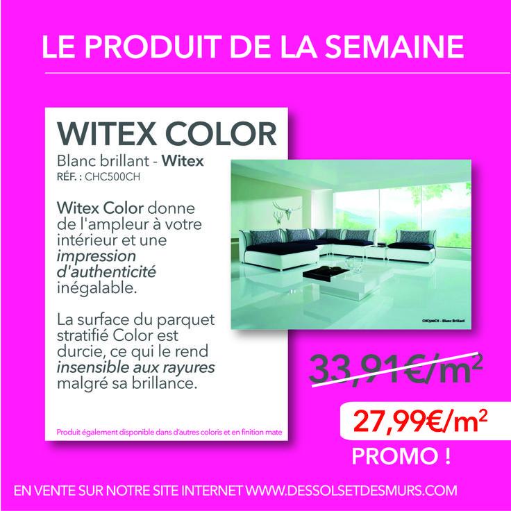 Le PRODUIT DE LA SEMAINE. Aujourd'hui nous vous proposons de découvrir le revêtement de sol Witex Color Blanc brillant.  Plus d'informations http://www.dessolsetdesmurs.com/parquets-stratifies/96-witex-color-blanc-brillant.html?search_query=witex+color&results=16