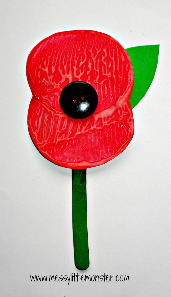 Messy Little Monster: simple Remembrance Day poppy potato print craft for preschoolers upwards eyfs