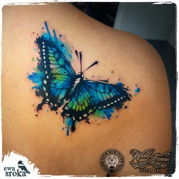 Aquarell Schmetterling